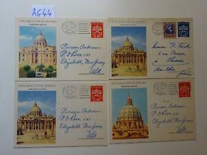 Vaticano 7 interi Vedute , usati  per l'estero.