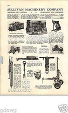 1940 Papier AD Bergbau 2 PG Sullivan Co Rock Bohrgerät Mine Auto Loader Dozer