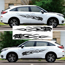 2x Black Panther Aufkleber KFZ Auto Tür Karosserie Flamme Sticker 2m Universal