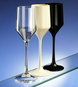 AIOS Unbreakable Newly Designed Champagne Flutes (190ml/6.7oz to Rim) Reuseable