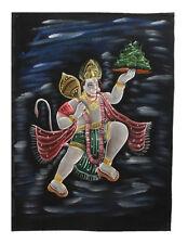 Batik tissu Dieu hindou Hanuman  Roi des singes peint 70x52cm fait main  11