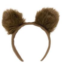 BEAR EARS HEADBAND FANCY DRESS ACCESSORY FLUFFY BROWN