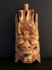 HAND CARVED WOOD, BALI Demon MASK WALL HANGING Indonesia - Very Detailed!
