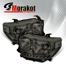 For 14-17 Toyota Tundra Smoke Headlights HeadLamps Clear Corner Reflector Lamp