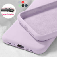 Case For iPhone 11 Pro Max XR 8 7 6s SE 2020 Liquid Silicone Colorful Soft Cover