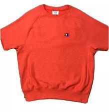 Champion Reverse Weave® Short Sleeve Crew Neck Sweatshirt Coral Medium      1993
