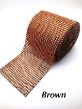Sparkly Diamante Effect Ribbon Copper Brown Colour Trim Sewing Wedding Crafts UK