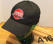 HIRO PREMIUM TIMOTHY SWORDS HAT BLACK ADJUSTABLE EMBROIDERED VERY GOOD COND A16