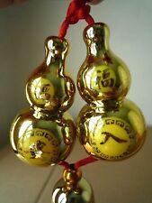 Gold-plated Double Wu Lou / Gourd Feng Shui Good Health Lucky Energy