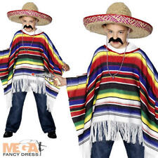 Poncho Mexican Boy Kids Bandit Fancy Dress Wild West Western Childrens Costume