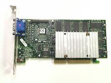 Vintage 3dfx Voodoo3 3000 AGP 16MB Graphics Card Adapter - Tested OK