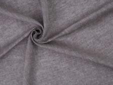 0,5 m Leicht Leinen Stoff, Natur Braun Grau - beige Farbe Melange Optisch, 140gr