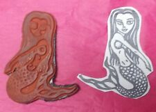 Unique carved art look mermaid rubber stamp unmounted loop tape mermaids fantasy