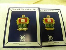 MILITARY INSIGNIA CREST DUI SET OF 2 BASICO FOREIGN NEWTELL WORLDWIDE INC UNSURE