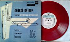"""GEORGE BRUNIS WITH NEW ORLEANS RHYTHM KINGS- RIVERSIDE 1024 - 10"""" LP - RED VINYL"""