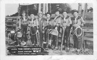 Cedar Rapids Iowa Owen's Cowboys Radio Station 1940s RPPC Photo Postcard 12374