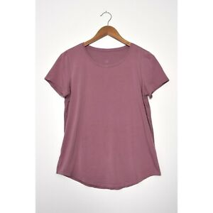 LULULEMON Love Crew III Short Sleeve T-Shirt Pima Cotton Top Figue size 8