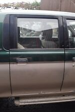 MITSUBISHI L200 K74  DRIVERS SIDE RIGHT HAND REAR DOOR GREEN OVER SILVER