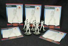 """Wizards Coast Star Wars Miniature Galaxy War Lot of 5 AT-TE Driver 1.5"""" RPG EUC"""