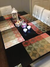 New 6 pcs Placemat PVC Daning Table kitchen red brown  Mats  Set gift