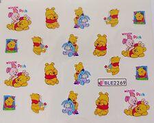 NAIL ART Pooh Pimpi Ih-Oh FIOCCO Miele Flower Girl Nail Acqua Decalcomania Adesivo 2269