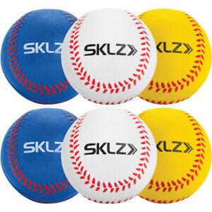 SKLZ Foam Training Baseballs 6-Pack - White/Yellow/Blue