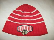Chicago Blackhawks Beanie Hat Stocking Cap One Size Reebok VTG NHL CHI Hockey