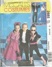 McCalls Sewing Pattern 2885, 1950's Costumes, Size Adult Sm- Med Uncut