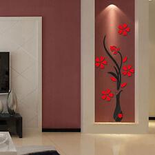 40*80cm 3D Flower Vase Wall Decals Stickers Art Home Room Vinyl Decor Decoration