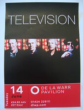 TELEVISION  :  de la warr pavilion Concert Flyer