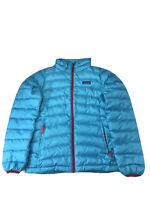 Patagonia Girls Blue Insulated Down Sweater Jacket /Winter Coat Sz L (12)