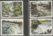 ZAMBIA 1993 WATERFALLS COMPLETE POSTAL USED SET 0365