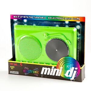 Niños Mini Dj Combinación Tocadiscos Juguete, Verde, Novedad Regalo Gira Con 6