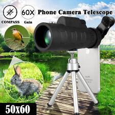 50X60 Zoom HD Jumelle Monoculaire Télescope Téléphone Clip Focus Chasse Voyages