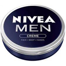 PACK OF 2 NIVEA MEN CREAM Creme Face, Body & Hands Moisturiser Dry Skin (2x75ml)