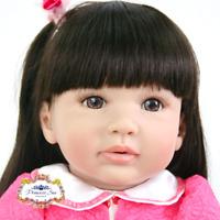 "New 22"" Handmade Vinyl Silicone Reborn Baby Dolls Lifelike Girl Dolls Gift Molli"