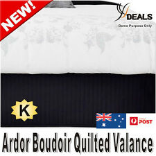 Ardor Boudoir KING Bed Quilted Valance - Black