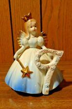 Josef Originals 9Th Birthday Angel Girl Blue Dress With Wand Wearing Crown