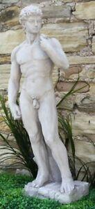 Large David Male Statue Man Figure Stone Effect Garden Lawn Sculpture Ornament