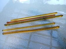 LOT 6 Vintage Amber Glass Swizzle Sticks Greenwich Village Pepper Pot Inn RARE