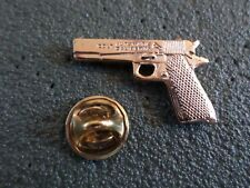 COLT 45 AUTOMATIC PISTOL HAT PIN LAPEL PIN GOLD IN COLOR
