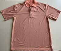 PGA Tour Men's Polo Short Sleeve Golf Shirt Multicolor Pale Raspberry M