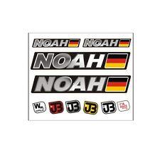 """Noah"" Auto Fahrrad Motorrad Kart Helm Fahrername Aufkleber Sticker Flagge"