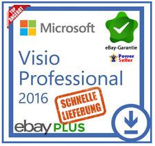 Microsoft Visio 2016 Professional PRO • MS® VISIO C2R • 30 Sek. LIEFERUNG  •