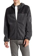 $160 Tommy Hilfiger Mens Fleece Hoodie Full Zip Jacket...