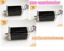 EU Free! 3pcs Wantai Nema23 Stepping Motor Dual Shaft 4.2A 112mm 4leads cnc kit