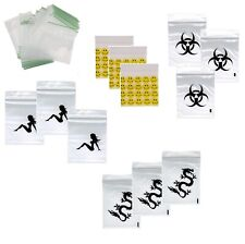 Small Large Tiny Plastic Sealy Grip Zip Lock Zipper Gummy Bags Baggies 30 40 60