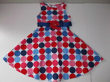 Bonnie Jean Disco Dot Dress Girls 6 EUC Red Blue Polka Dots