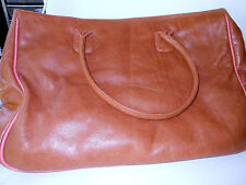 Caylani Fabulous tote/laptop carrier in natural leather with beautiful print lin