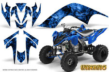 YAMAHA RAPTOR 700 GRAPHICS KIT DECALS STICKERS CREATORX INFERNO BLUE